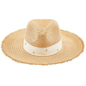 Kensie Polka Dot Straw Hat